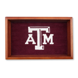 Texas A&M Needlepoint Valet Tray