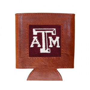 Texas A&M (Maroon) Needlepoint Can Cooler