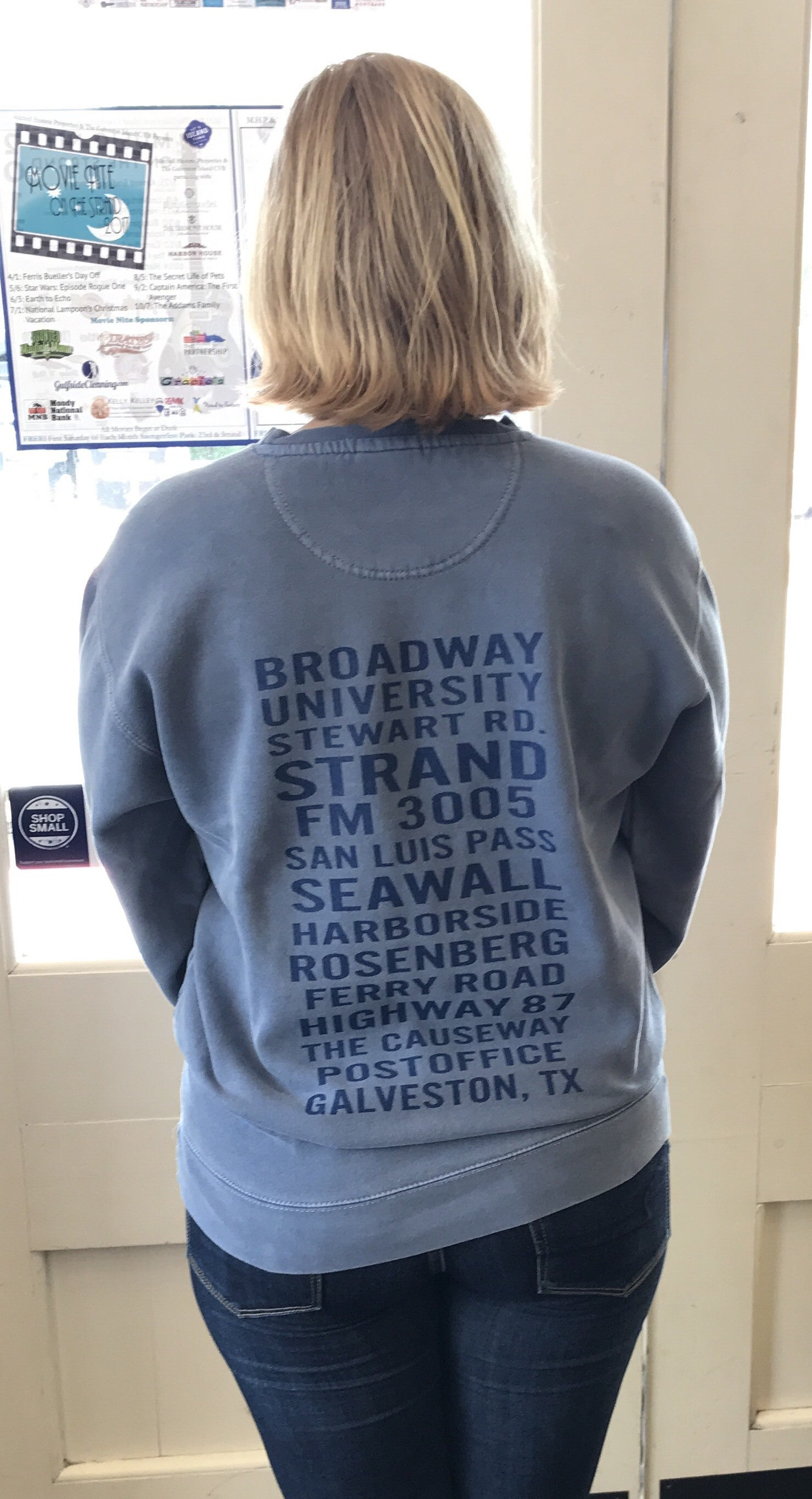 Blue Jean Galveston Streets Sweatshirt