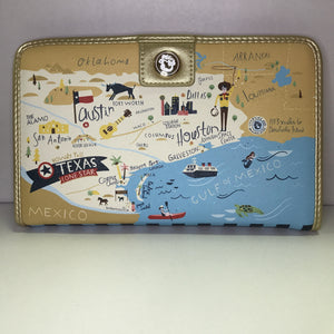 Texas Map Wallet