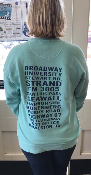 Chalky Mint Galveston Streets Sweatshirt