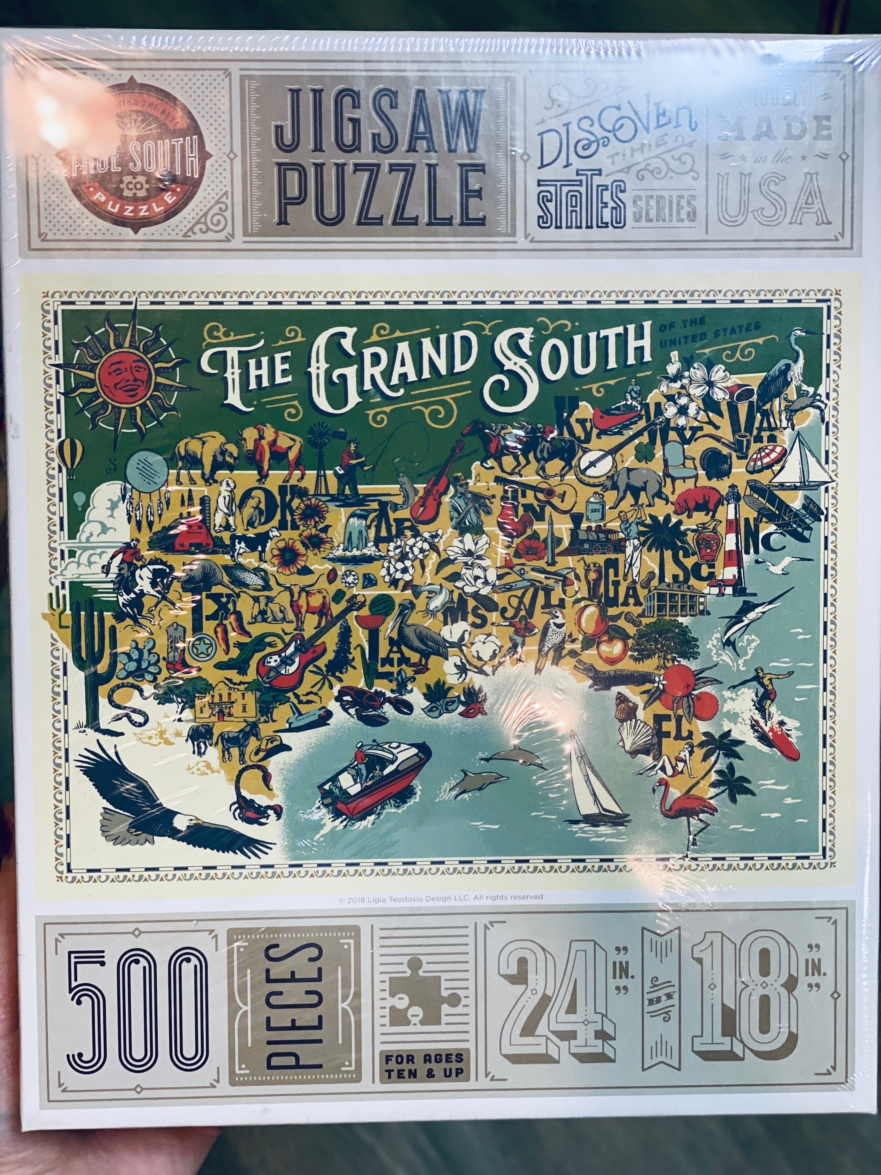 The Grand South 500 Piece Puzzle