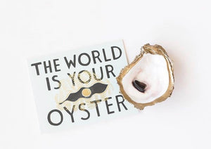 Painted Oyster Shell