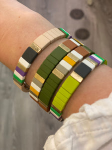 Tile Stack Beaded Bracelet