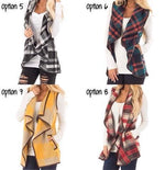 PLAID CARDIGAN VEST