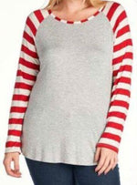 STRIPED SLEEVE T-SHIRT