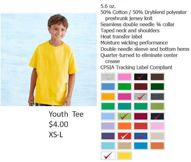 YOUTH SHORT SLEEVE TSHIRTS