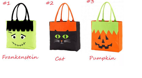 HALLOWEEN TOTE WITH FACE