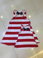 RED & WHITE STRIPED RACERBACK TANK WITH STARS