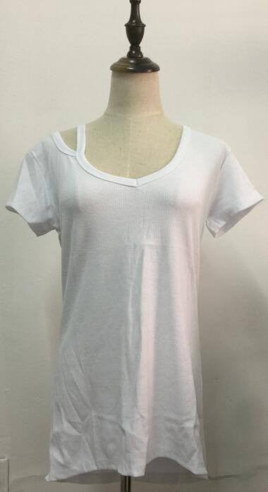 Shoulder Strap V Neck T Shirt Blanks For Vinyl