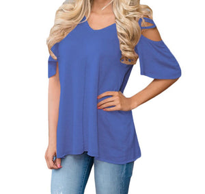 CRISS CROSS SLEEVE COLD SHOULDER TUNIC