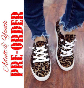 LEOPARD SNEAKERS - ADULT & YOUTH