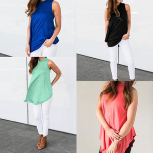 FLOWY SUMMER SLEEVELESS TUNIC