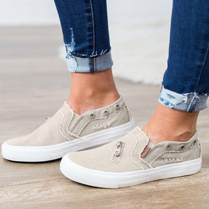 SLIP-ON DISTRESSED SNEAKERS