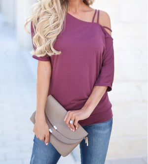 STRAPPY SHOULDER TOP