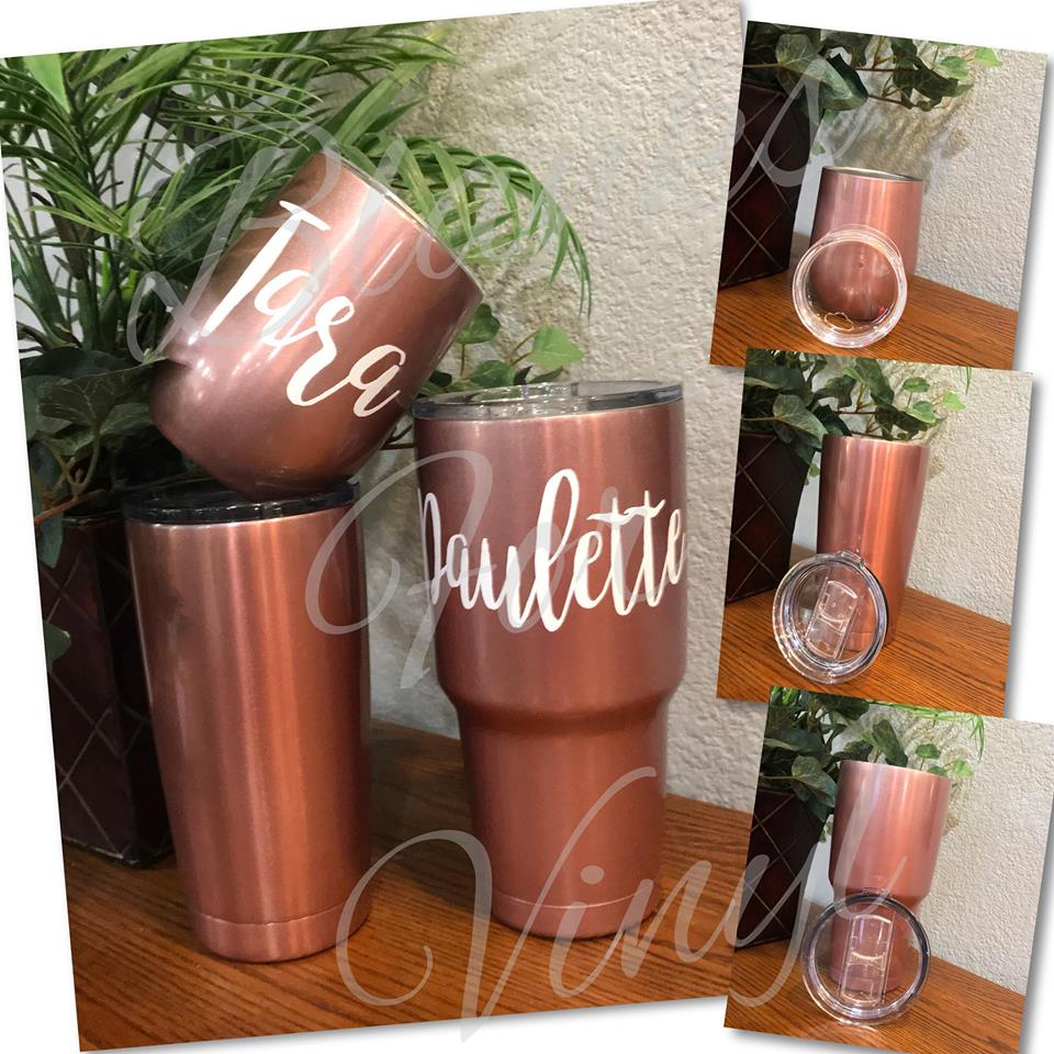 DOUBLE INSULATED TUMBLERS; ROSE GOLD