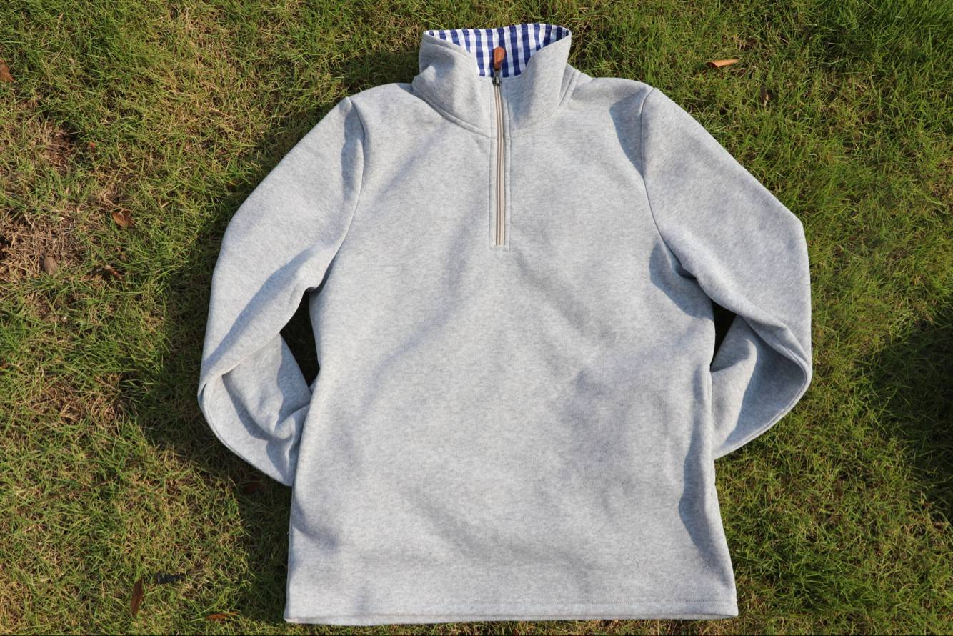 COLORADO GINGHAM 1/4 ZIP PULLOVER
