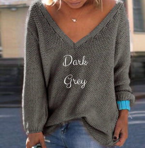 V-NECK LOOSE FIT SPRING SWEATER