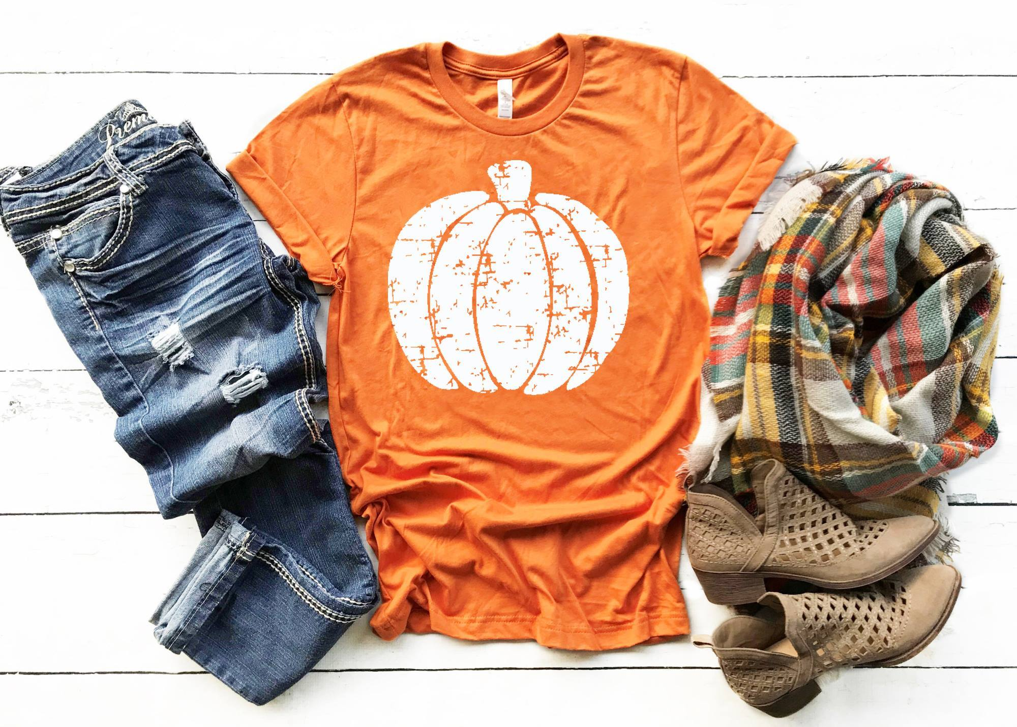 PUMPKIN SCREEN PRINT TRANSFER & SHIRTS