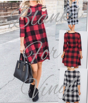 CHECKMATE PLAID DRESSES