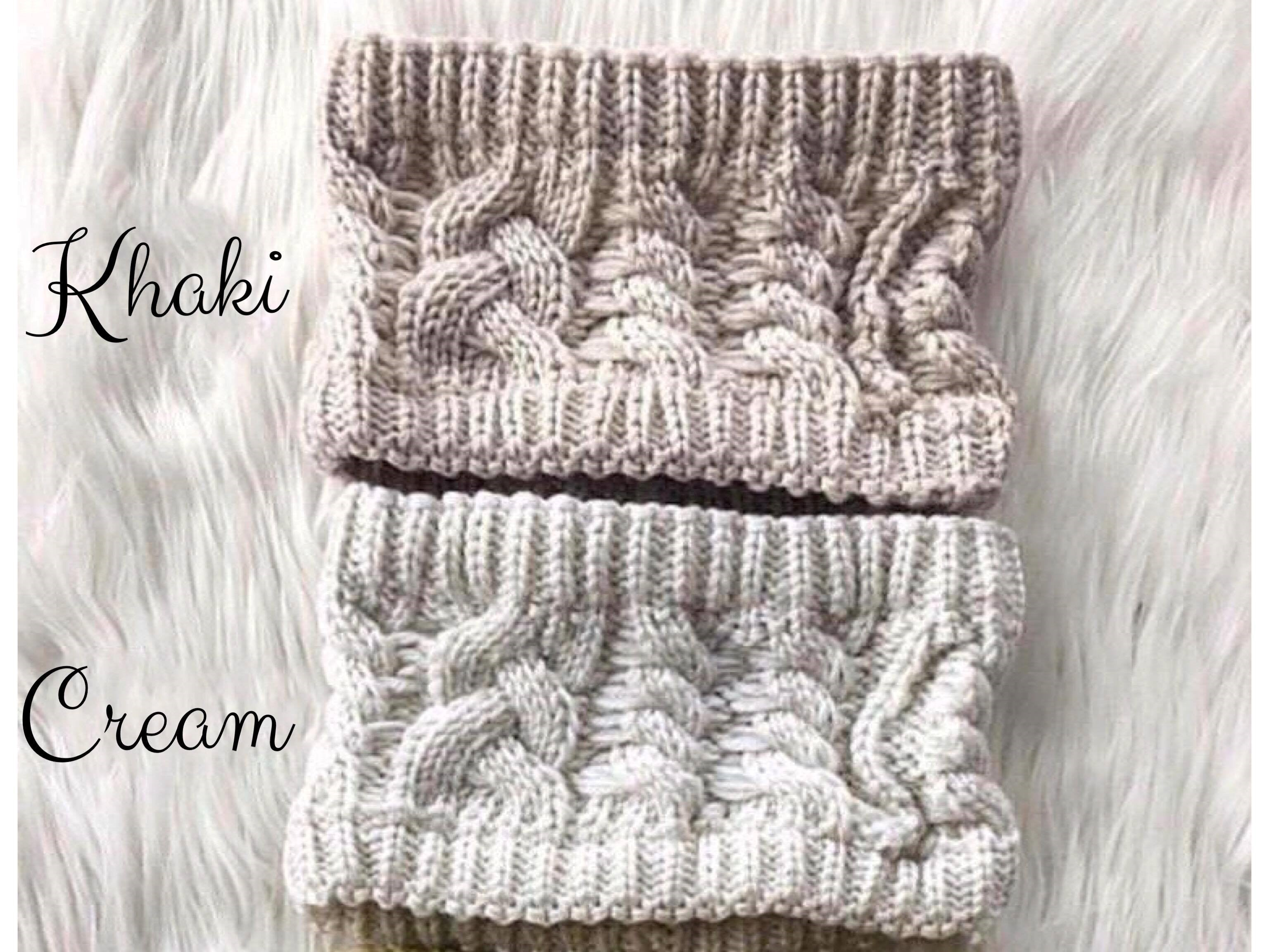 CABLE KNIT HEADBAND WRAP