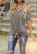 LEOPARD COLD SHOULDER