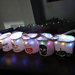 LED LIGHT HALLOWEEN TOTES