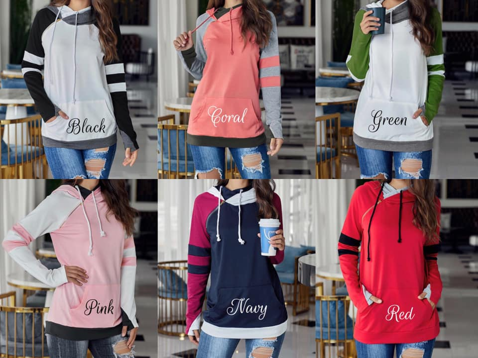 VARSITY DOUBLE HOODED SWEATSHIRT