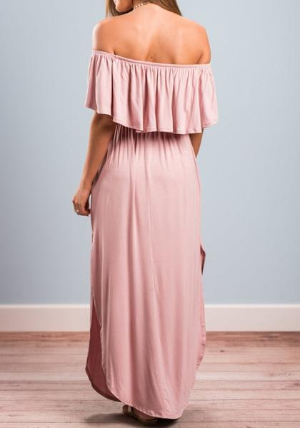OFF THE SHOULDER MAXI DRESSES