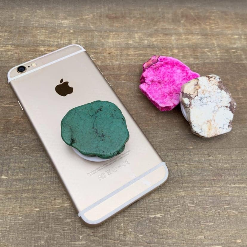 POP-UP STONE PHONE GRIP