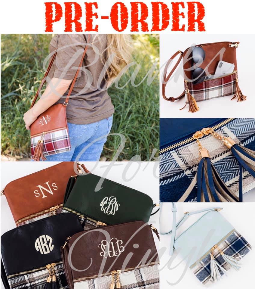 PLAID TASSEL CROSS BODY