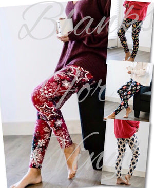 CHRISTMAS PRINT LEGGINGS