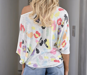 Color Me Spotted Leopard Top