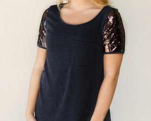 SEQUIN SLEEVE POCKET TUNIC
