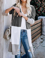 COLORBLOCK SWEATER CARDIGAN