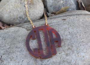 ACRYLIC INITIALS NECKLACE