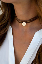 LEATHER WRAP CHOKER