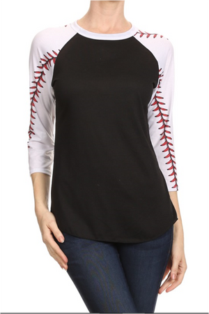 BASEBALL/SOFTBALL STITCHING RAGLANS - ADULT & YOUTH