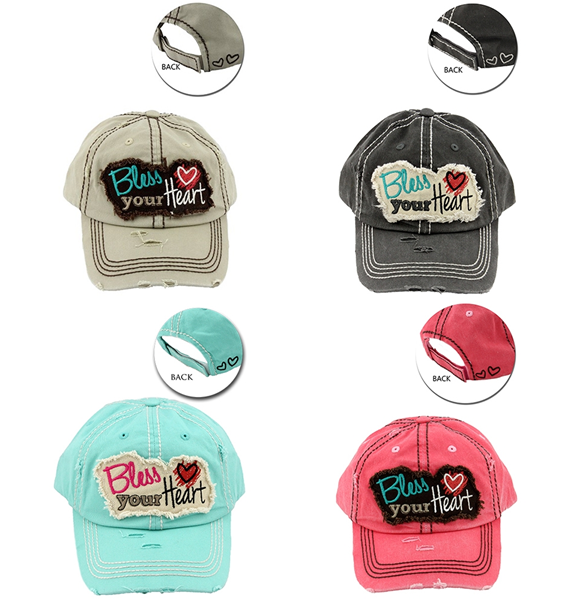 DISTRESSED PATCH HATS