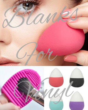 MAKE UP BRUSH CLEANING PADS & BLENDING SPONGES