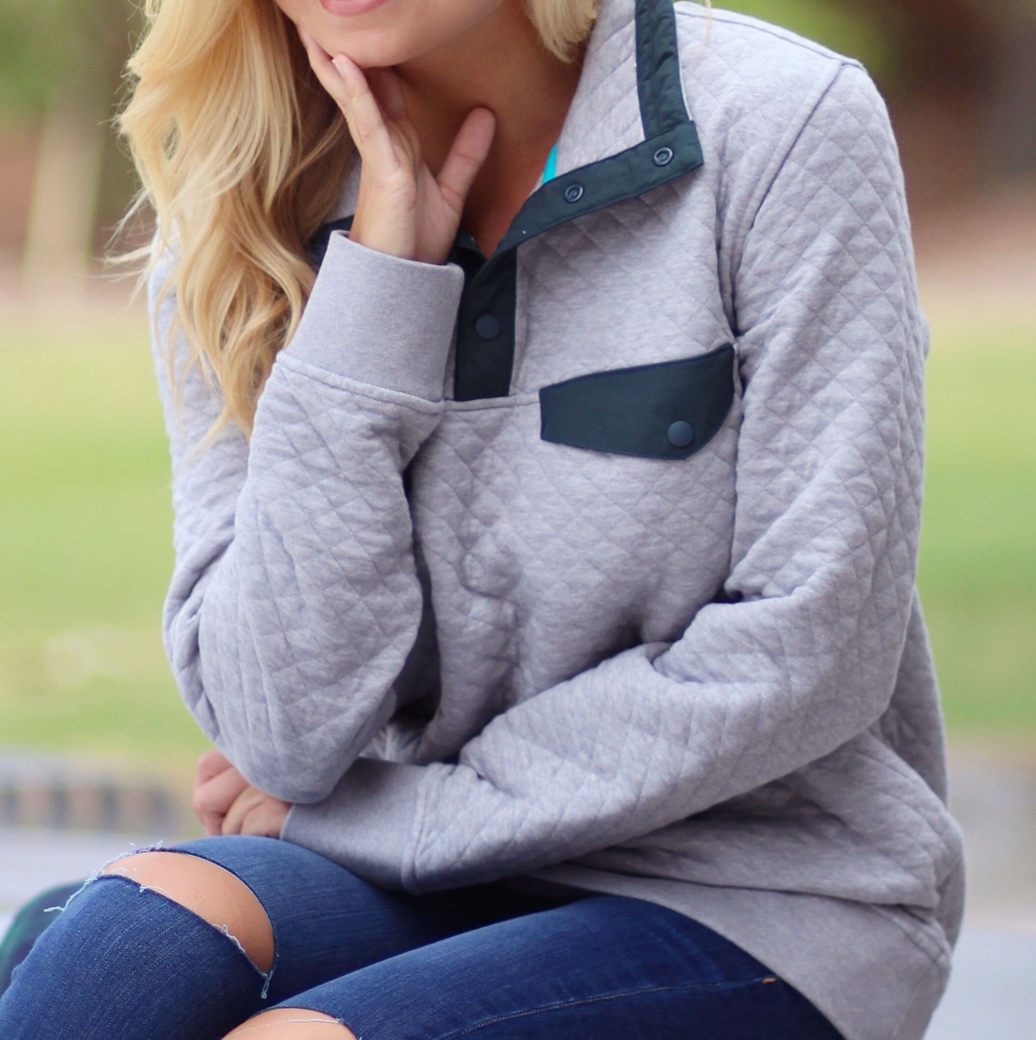 QUILTED SNAP-T PULLOVERS