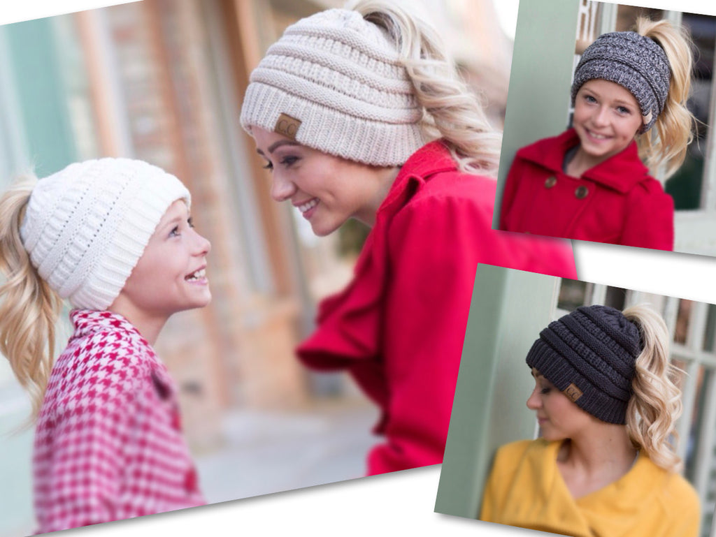 PONYTAIL BEANIES - ADULT & YOUTH