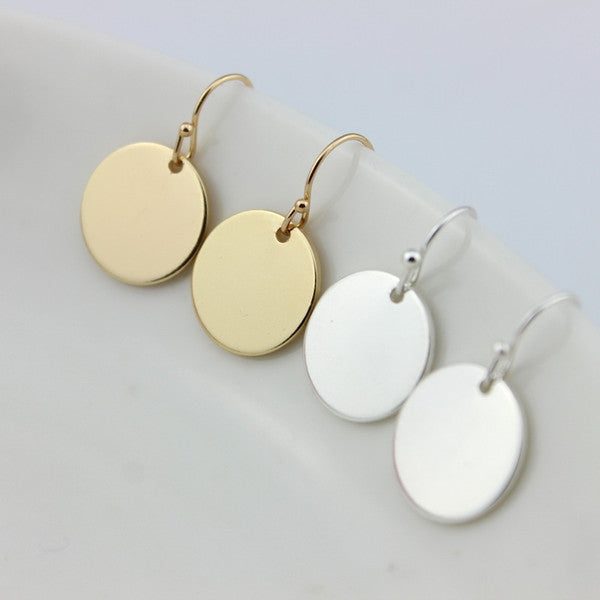 DISC EARRINGS TO MONOGRAM