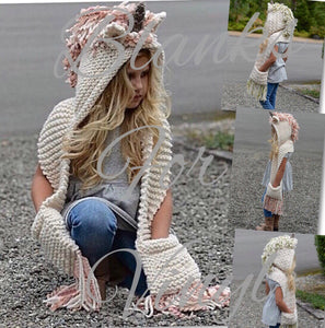 UNICORN HOODED SCARF