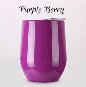 12oz DOUBLE WALLED TUMBLERS w/HANDLE & LID