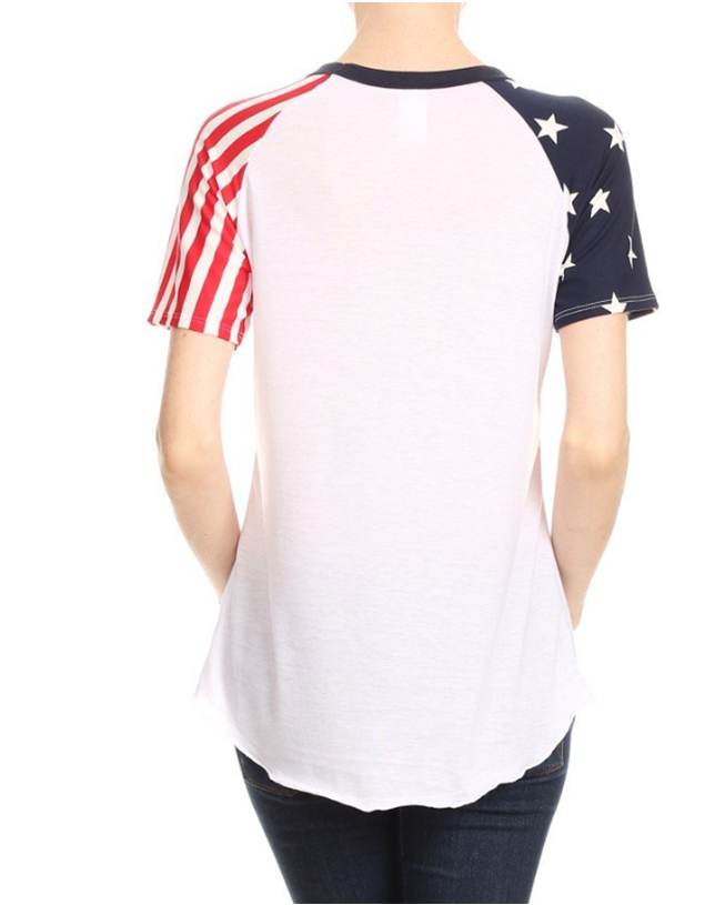 SHORT SLEEVE FLAG T-SHIRT
