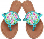 PATTERNED DISC SANDALS