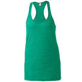 LADIES SLIM FIT HEATHERED RACERBACK TANK