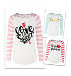 PASTEL STRIPED SLEEVE RAGLAN