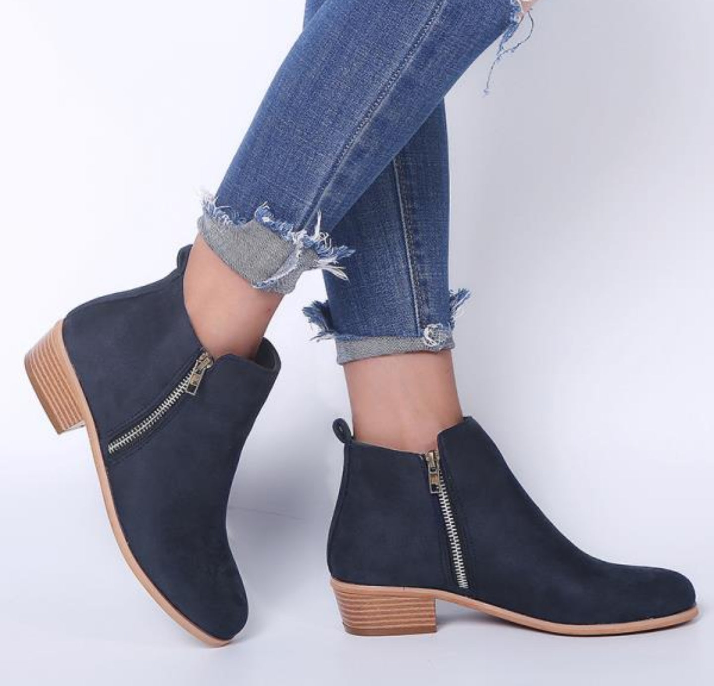 LARA DOUBLE ZIP BOOTIES